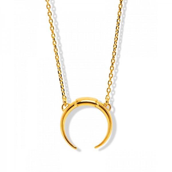 Tusk High Polished Gold Necklace