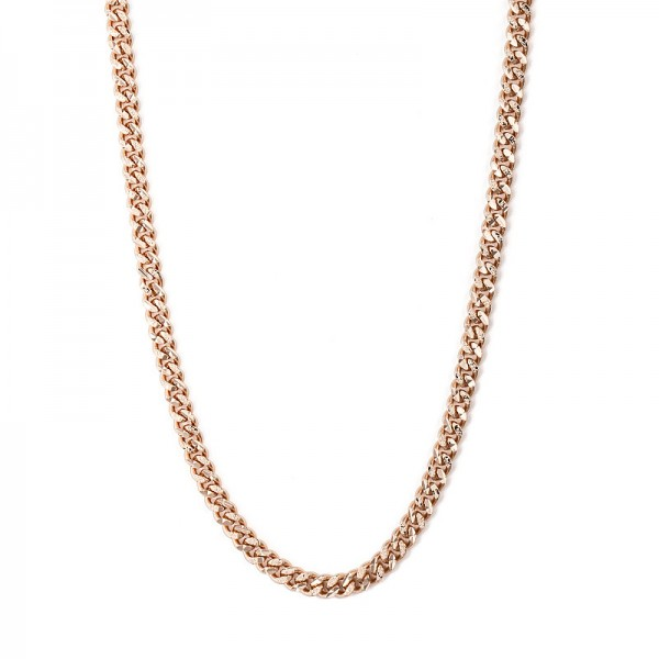 VINTAGE STYLE & FROSTED GOLD CHAIN NECKLACE