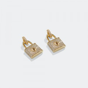 Gold plated locker earrings