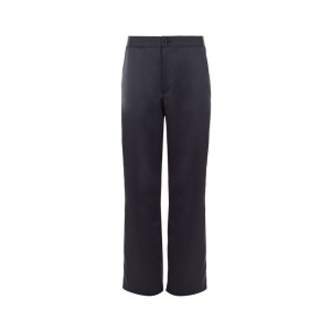 TERPSICHORI BLACK SATIN PANTS