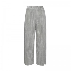 WIDE PANTS WITH GREY VELOUR STRAPS