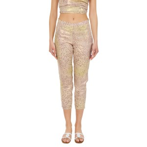 """Rhea"" Pants Leopard Gold"