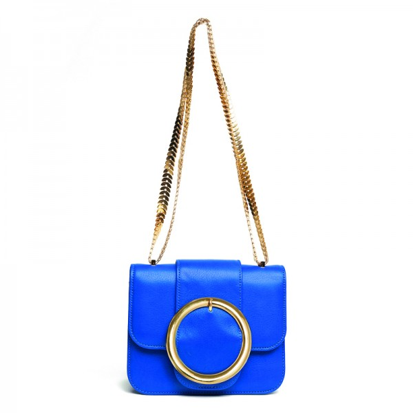 """CELENE"" BLUE LEATHER BAG classics"