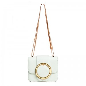 """CELENE"" WHITE LEATHER BAG classics"