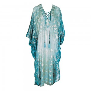 FILIPPIAS CAFTAN LIGHT BLUE LUREX