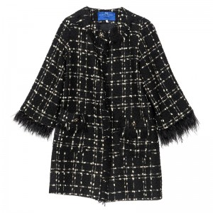 CHECKERED PATTERN COAT