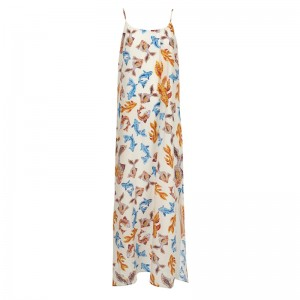 MEDUSA WHITE SILK SATIN MAXI DRESS