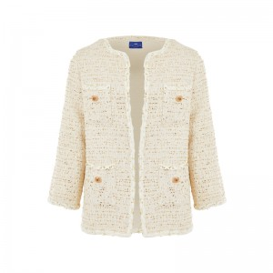 ECRU TWEED WOOL BLAZER
