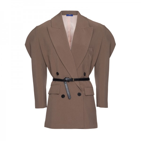 JACKET LIGHT BROWN WITH BELT