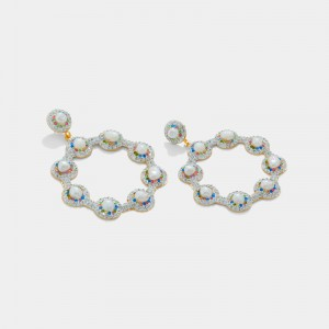 STATEMENT EARRINGS WITH PEARLS AND quartz
