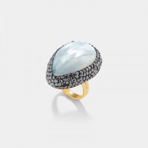 MOTHER OF PEARL DROP RING