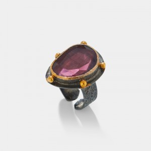 PURPLE QUARTZ STONE RING
