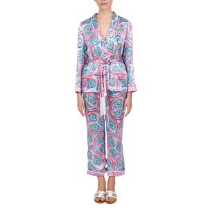 Terpsichori pink silk satin pajama set