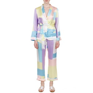 Terpsichori pastel silk satin pajama set