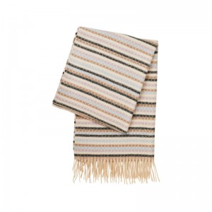 BROWN STRIPES CASMIR SCARF