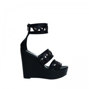 """ANTHEMIO"" BLACK PLATFORM SANDALS classics"